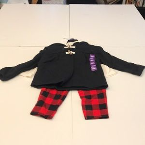 3 piece outfit with onesie pants and coat